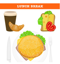 Lunch break vector