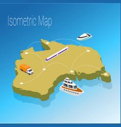 map australia isometric concept vector image