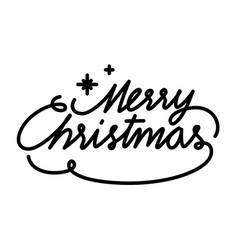 Merry christmas text font graphic image vector