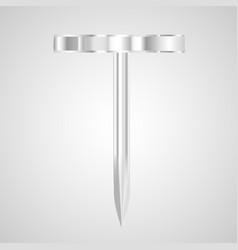 metal pin vector image