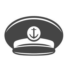 monochrome captain cap icon vector image