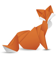 Paper fox isolated icon vector