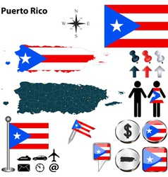Puerto Rico map vector image