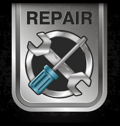 repair with tool banner vector image