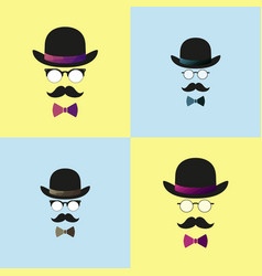 retro vintage gentleman set vector image