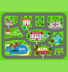 road play mat for children activity entertainment vector image