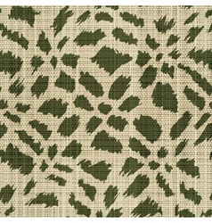 rough textile print vector image