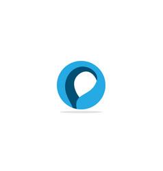 round circle abstract logo vector image