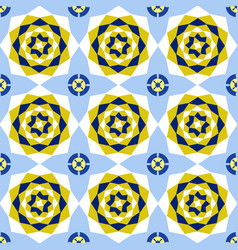 seamless floral abstract geometric pattern vector image