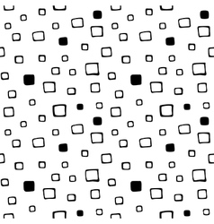 seamless hand drawn pattern with squares vector image