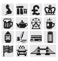 set of uk vector image