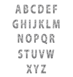 Sketch textured font vector image