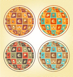 Sphere social networking vector