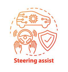 Steering assist concept icon smart car vector
