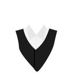 suit icon isolated on white background vector image