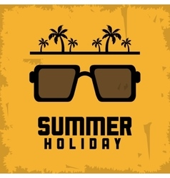 Summer design glasses and palm tree icon vector image