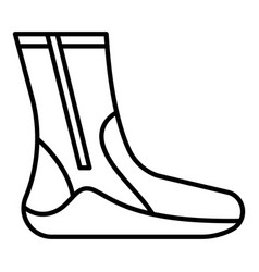 Thermo sock icon outline style vector