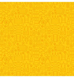 Thin Holiday Line Oktoberfest Yellow Seamless vector