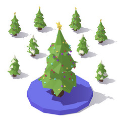 Tree with star topper vector