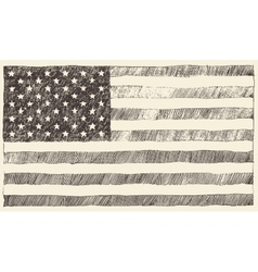 United States America USA flag hand drawn vector image
