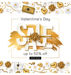 valentines day sale online banner vector image