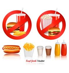 ast food danger labels vector image vector image