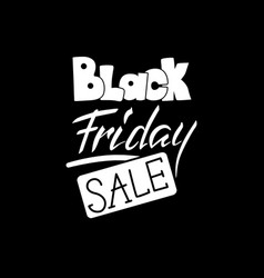 black friday sale lettering hand drawn text to vector image vector image