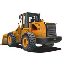 bulldozer vector image vector image