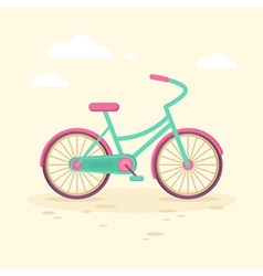 Colorful flat elegant bicycle vector image