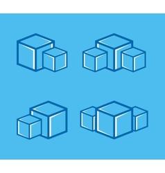 ice cube logo or symbol icon vector image vector image