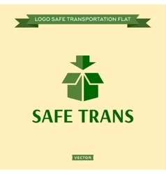 Logo safe delivery open box with an arrow vector image