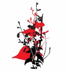 oriental flower vector image vector image