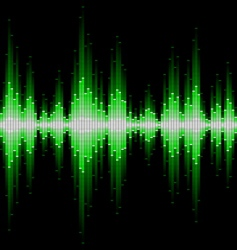 sound waveform vector image