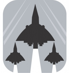 air show vector image vector image
