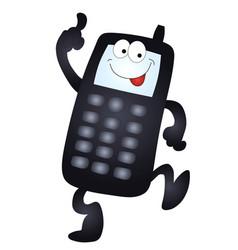 cartoon mobile phone vector image