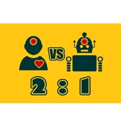 Cute vintage robot and human vector image vector image