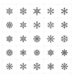 Mini icon set snowflake icon vector