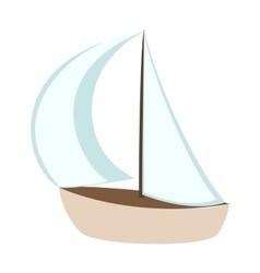 Sea ship sailboat vector image