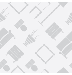 Seamless pattern with flat furniture icons vector image vector image