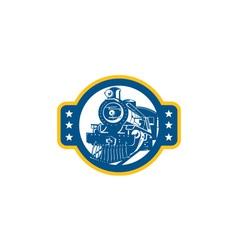 Steam Train Locomotive Front Retro vector image vector image