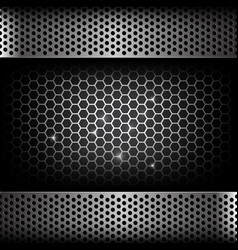 abstract background dark with honeycomb and hold vector image vector image