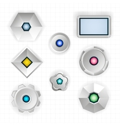 Abstract futuristic geometric shapes vector image vector image