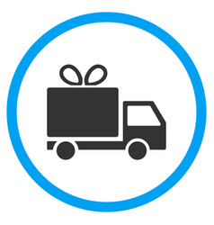 gift delivery rounded icon vector image