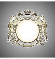heraldic frame vector image vector image