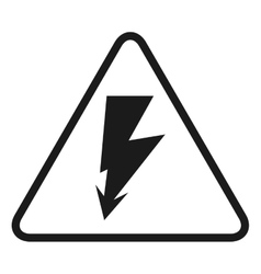 high voltage signal isolated icon design vector image