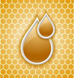 Honey drops icon vector
