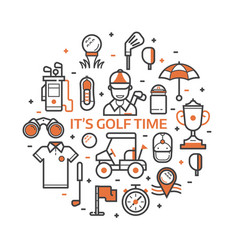 play golf print with golf icons vector image