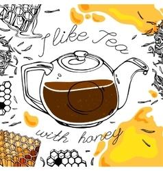 Tea and Honey vector image