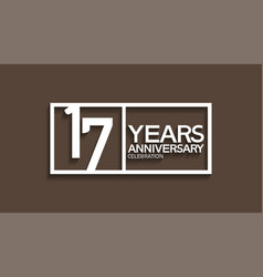 17 years anniversary logotype with white color vector