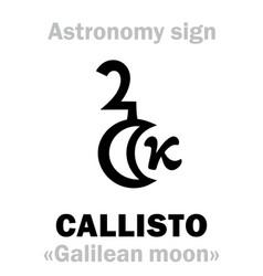 Astrology callisto vector